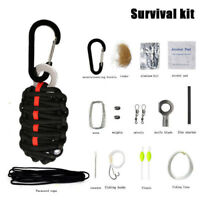 Outdoor Emergency Survival Camping Fishing Paracord Emergency Pack Tool Kits