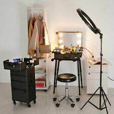 Makeup Case Trolley Rolling Studio LED Lighting Travel Train Portable Box US