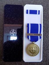 GENUINE NATO MEDAL FOR FORMER YUGOSLAVIA IN NATO BOX OF ISSUE - EXCELLENT