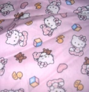 MadieBs Custom Hello Kitty Pink Boutique Fitted Crib Sheet