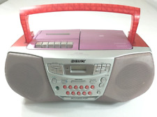 Sony CFD-922 CD Radio Cassette Missing Cord Boombox Pink Red Everything Works