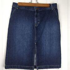 Tommy Hilfiger Skirt Denim Jean front slit Size 6 Carpenter Loop