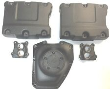 Harley Rocker Box Cam Cover Lifter Cover Set 01-17 Twin Cam Wrinkle Black
