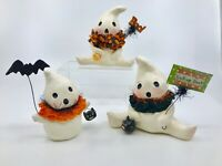 Bethany Lowe Designs: Halloween;  Ghosties by Michelle Allen; Set 3 Assorted