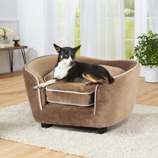 Velvet Large Pet Dog Puppy Cat Sofa Chair Bed Chaise Lounge Couch Raised House