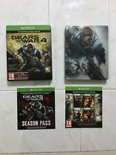 Gears Of War 4 Ultimate Metalica XBOX ONE PAL España Completo Stickers Pegatinas