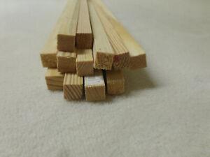 Quadratleiste Kiefer 10x10mm Vierkant Holzleisten 10Stk 100cm