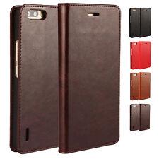 100% Echt Leder Handy Tasche Cover Schutz Hülle Klapp Etui Leather Case Schale
