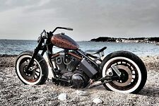 "ATLAS Brand 16"" Motorcycle Whitewall Tire insert Trim Set 4pcs chopper bobber"