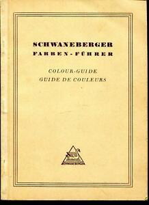 Schwaneberger Farbenführer 3sprachig (deutsch, englisch, französisch)