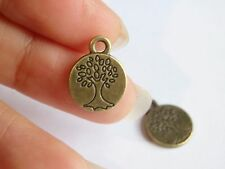 10 tree of life charms pendants bronze antique jewellery making wholesale PL 15