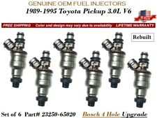 6//pc OEM DENSO FUEL INJECTORS for TOYOTA 4RUNNER 3.0L V6 1989-1995 *REMAN*