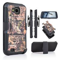 For LG V9/ X Calibur Armor Camo Belt Clip Holster Hard Case Cover  Kickstand