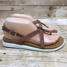 VIONIC Women's Size 6.5M Tan White PALM VERANDA Thong Sandals