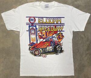 Vintage 1997 Eldora Speedway Tee - Large