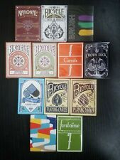 Mix Card Brick Playing Cards Fontaine Green Cardistry Theory 11 Dealers Grip