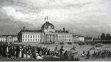 GRAVURE ANCIENNE 19e - ECOLE MILITAIRE - PARIS
