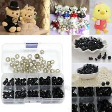 142pcs Black Plastic Safety Eyes for Bear Doll Making Soft Toys Craft DIY Z
