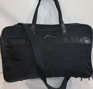Hartmann Luggage Black Canvas/Nylon/Leather Carry On Briefcase Bag