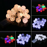2.3M 20LED Cotton Ball Fairy String Lights Battery Party Wedding Christmas Decor