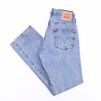 Vintage LEVI'S 501 Regular Straight Fit Men's Blue Jeans W32 L34