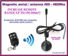 Magnetic Aerial 150m+ range, external antenna for gate remote controls. 3m cable