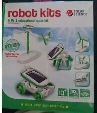 6in 1 de ingeniería robótica Accionado Solar Niños Juguetes de experimento científico