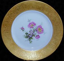 VTG DINNER PLATE(S) ENCRUST GOLD RIM ROSENTHAL GERMANY NY CHICAGO OVINGTON