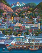 DOWDLE FOLK ART COLLECTORS JIGSAW PUZZLE SKAGWAY ALASKA PANHANDLE 500 PCS #00410