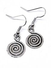 Swirl Spiral Earrings Bohemian Womens Ladies Drop Dangle Jewellery
