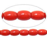 Natürliche Rote Koralle NATUR EDELSTEIN PERLEN OVAL 6mm 20stk BEST G116