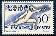 STAMP / TIMBRE FRANCE NEUF N° 962 ** SPORT JEUX OLYMPIQUES HELSINKI ESCRIME