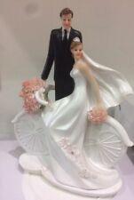 Cake topper matrimonio nozze decorazione torta Sposi in bicicletta
