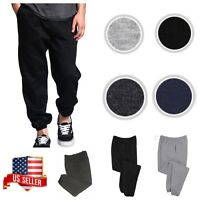 Men's Jogger Pants Fleece SweatPants Workout GYM  Sports Casual Black Gray S-3X
