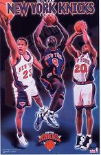 New York Knicks Collage M.Camby A. Houston & L.Sprewell Poster by Starline