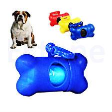 Pet Dog Bone Shape Dispenser Box Garbage Clean Waste Poo Bag Carrier Holder Case