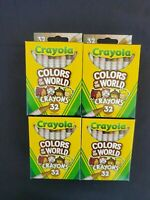 Lot of 4 New Crayola Colors Of The World 32 Skin Tone Multicultural Crayons