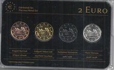 Deutschland 2 Euro Prestige Metal Coinset,Niedersachsen,Gold,Platin,Ruthenium