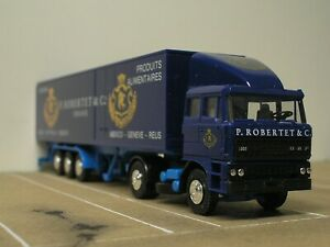 Herpa DAF 3300 Turbo Truck Robertet Parfums 40ft RARE 1:87 Lorry HO Original Box