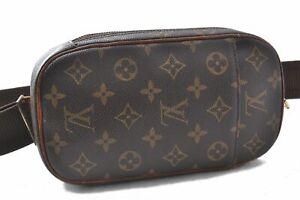Authentic Louis Vuitton Monogram Pochette Gange Cross Body Bag M51870 LV B0382