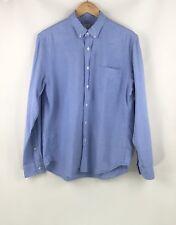 J Crew Vintage Oxford Men's Blue Long Sleeve Button Up Shirt Size M