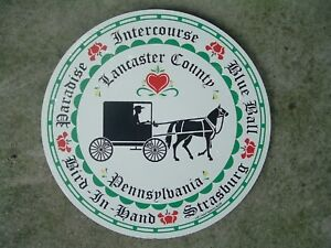 """ZOOK Novelties 8"""" HEX SIGN, PA Dutch Country Town Names, Lancaster County"""