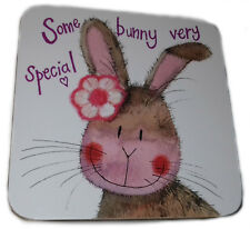 Some Bunny very Special Corked Backed Coaster, Alex Clark, Love, Romantic C111