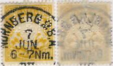 "ALLEMAGNE / BAYERN - "" L & M "" Firmenlochung auf Mi.67y (NÜRNBERG 2 BA Stempel)"