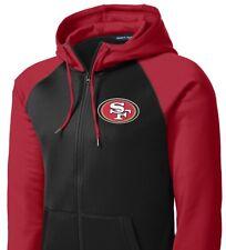 New 49ers Full Zip Jacket Hoodie Hooded Sizes XS - 4XL San Francisco Sweatshirt