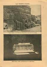 Archéologie Mur Lutèce Rive de Seine Paris/Autel Saint-Pierre 1906 ILLUSTRATION