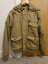 Quiksilver winter jacket with pockets and hood very good condition - light brown
