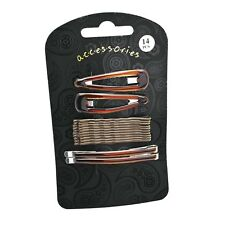 Hair clips 14 piece Brown-tortoiseshell-ladies clip hair accessory set 4-5-6 cm❤