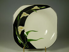 Sango QUADRILLE 5101 Black Lilies Squared Soup/Cereal Bowls 7 1/2  IN.