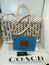 NWT Coach 10496 Rogue Tote with Colorblock Link -Defect- Chalk/Multi